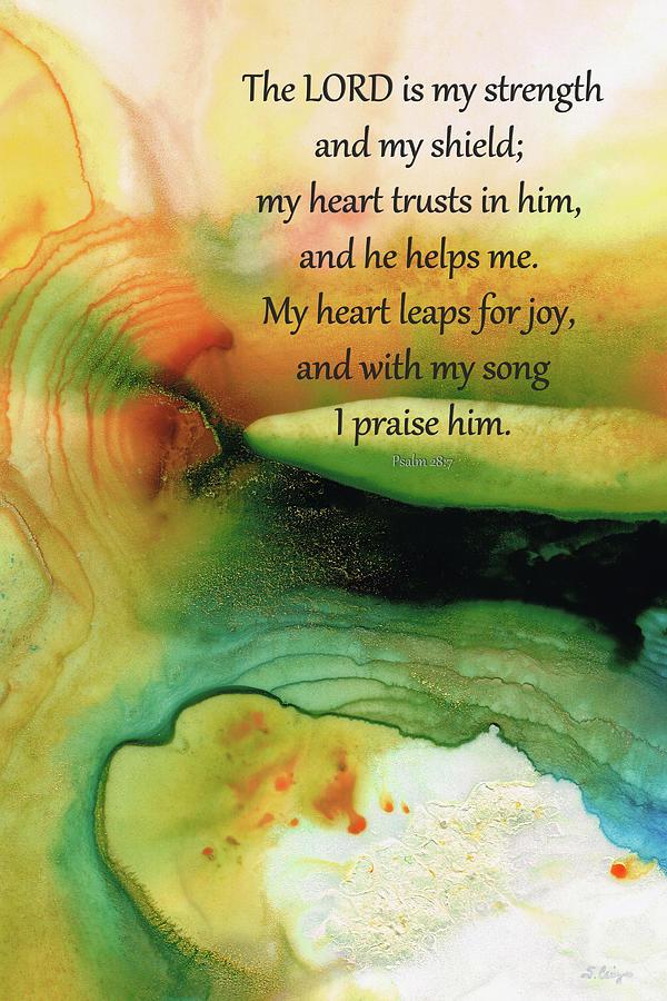 Psalm 28 Painting - My Strength - Christian Art - Sharon Cummings by Sharon Cummings