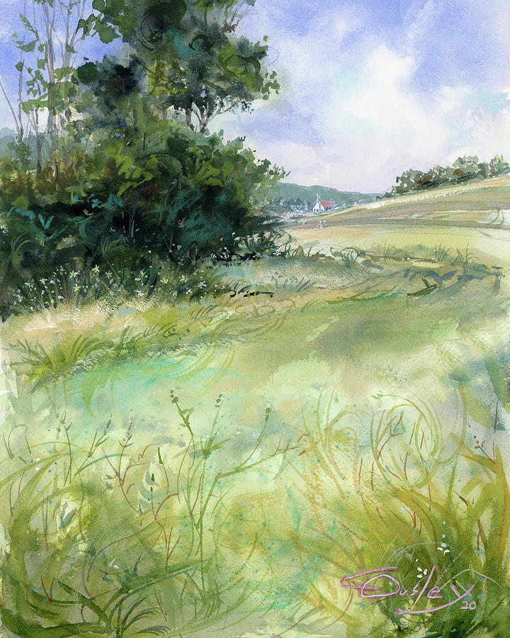 Watercolor Painting - My Sunny Tennessee by Chris Ousley