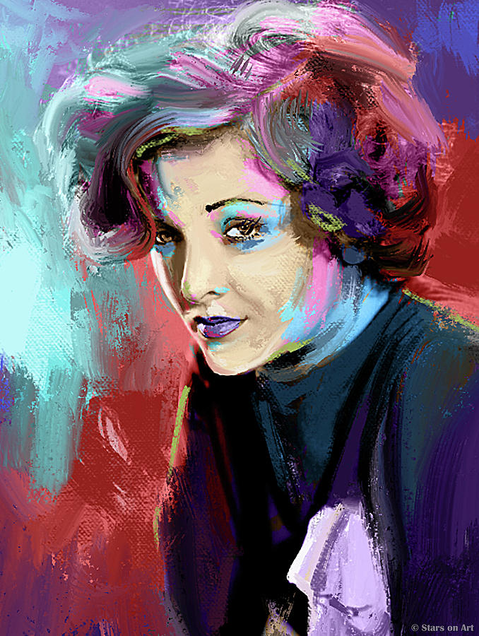 Myrna Loy painting by Stars on Art