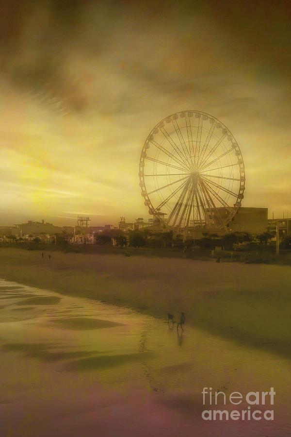 Myrtle Beach Sky Wheel Toned Digital Art
