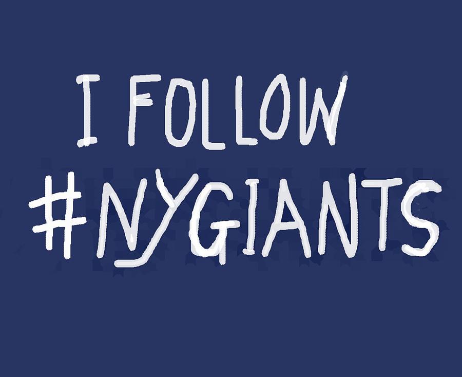 N Y Giants plain design  by Enki Art