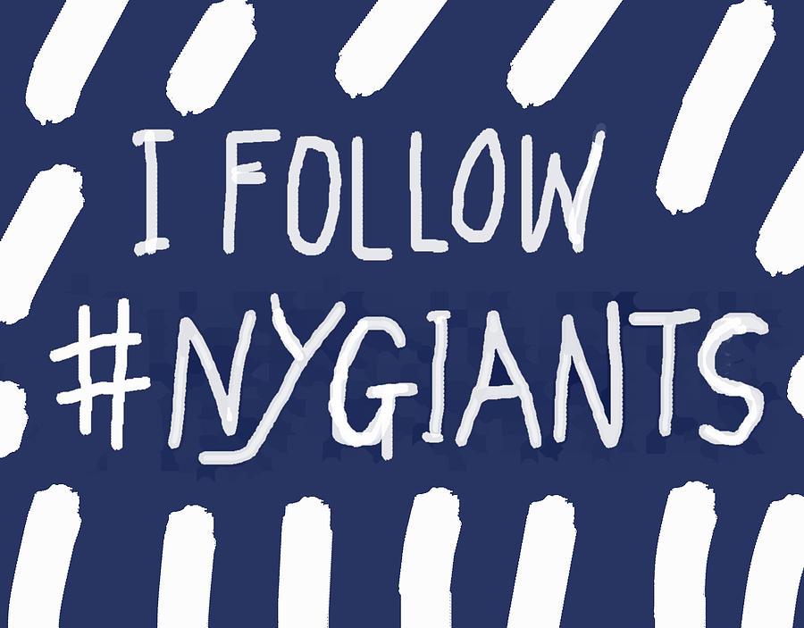 N Y Giants striped design  by Enki Art