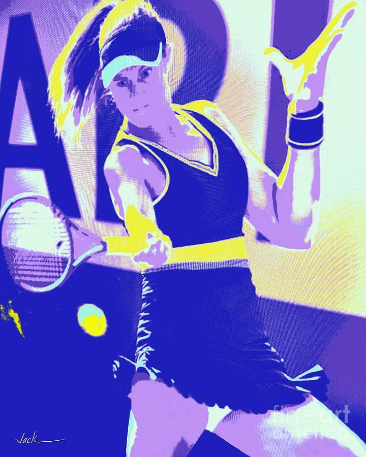 Tennis Painting - Nadia Podoroska by Jack Bunds