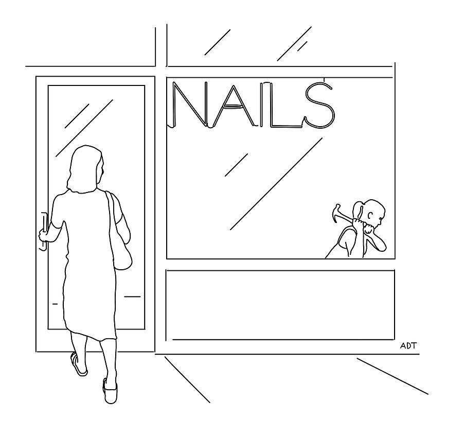 Nails Drawing by Adam Douglas Thompson