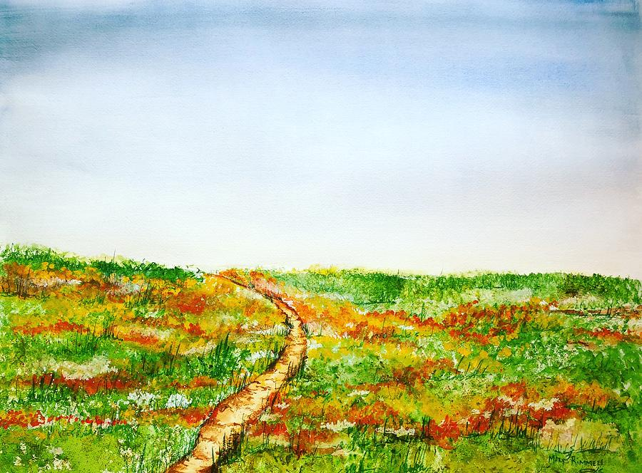 Water Color Painting - Namaqualand by Mary Rimmell