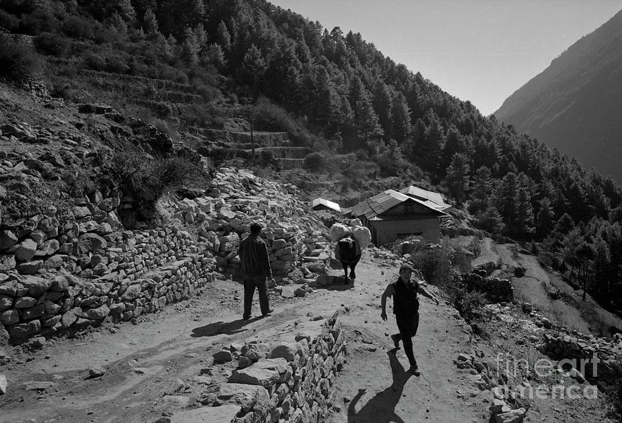 Namche Bazaar Everest Region Nepal 2005 Photograph