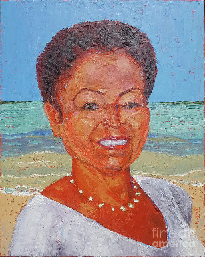 Portrait Painting - Nancy by Lilibeth Andre