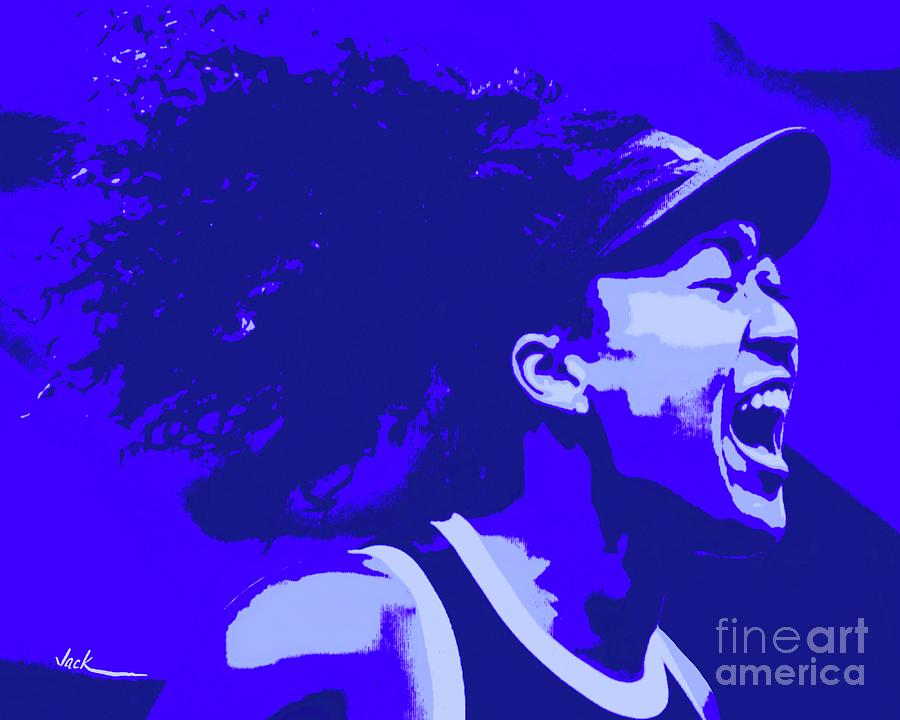 Tennis Painting - Naomi Wins 2020 Open by Jack Bunds
