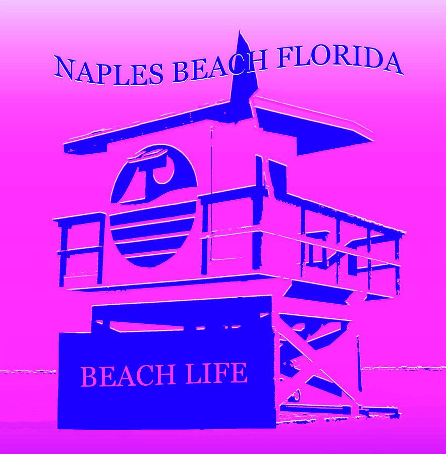 Naples Beach Florida Mixed Media