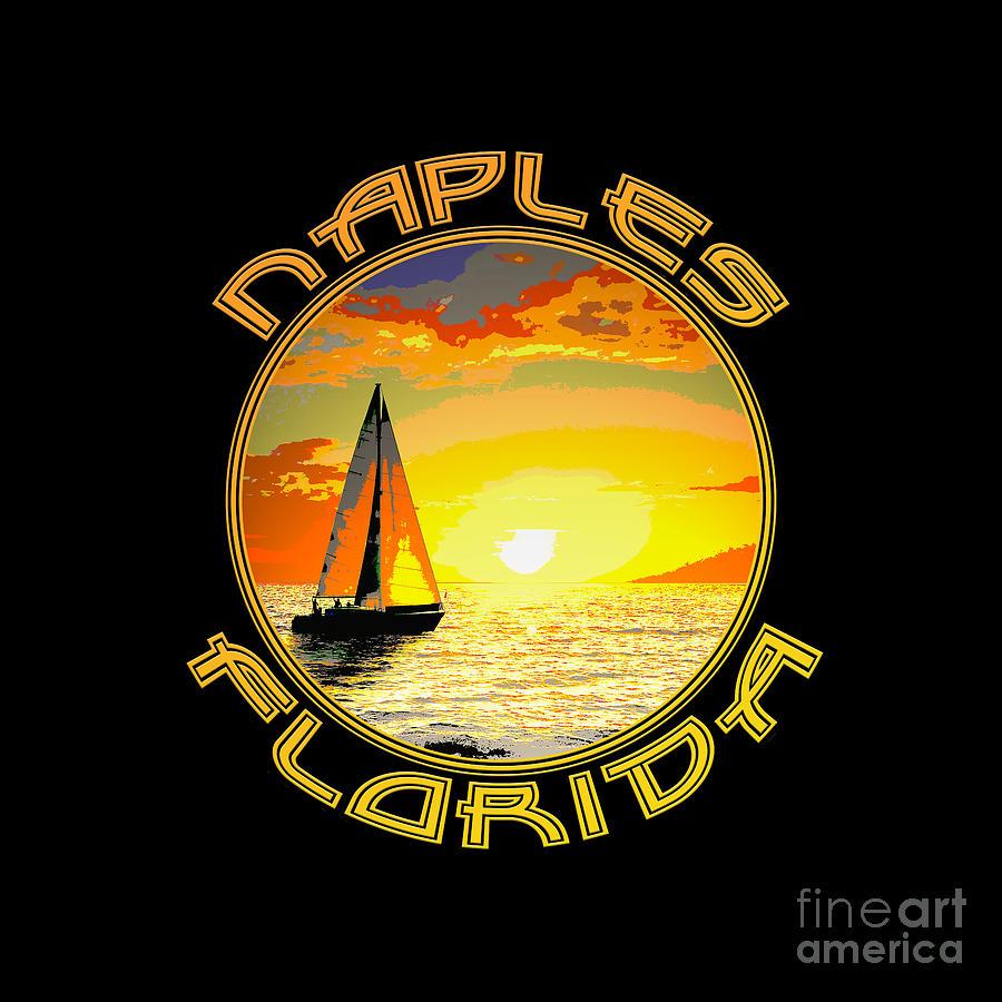 Naples Digital Art - Naples Circular by Jason Neptune