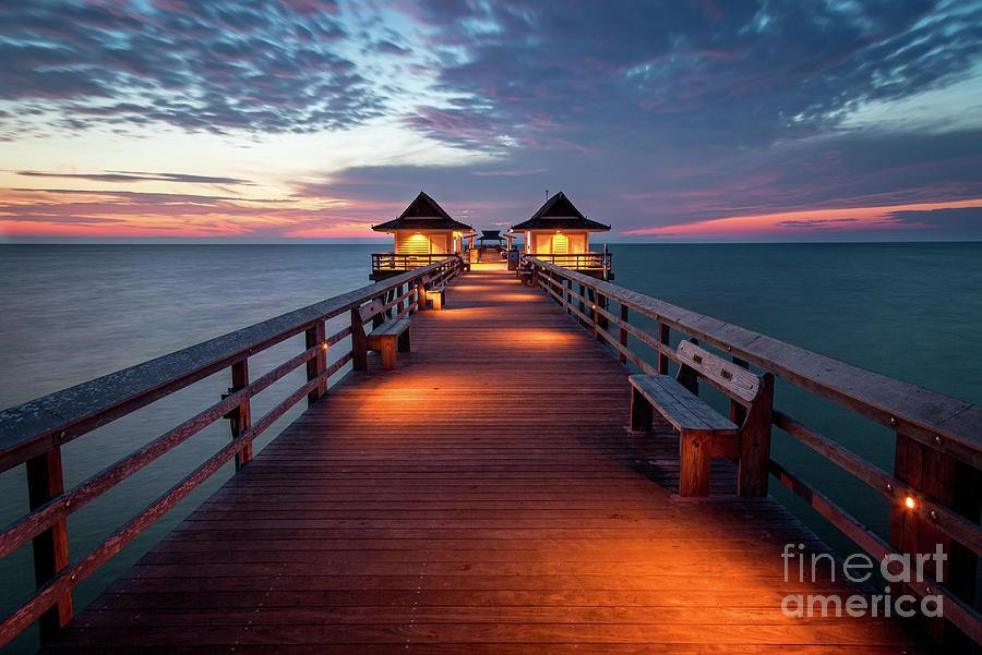 Naples Pier At Twilight - Florida Gulfcoast Photograph