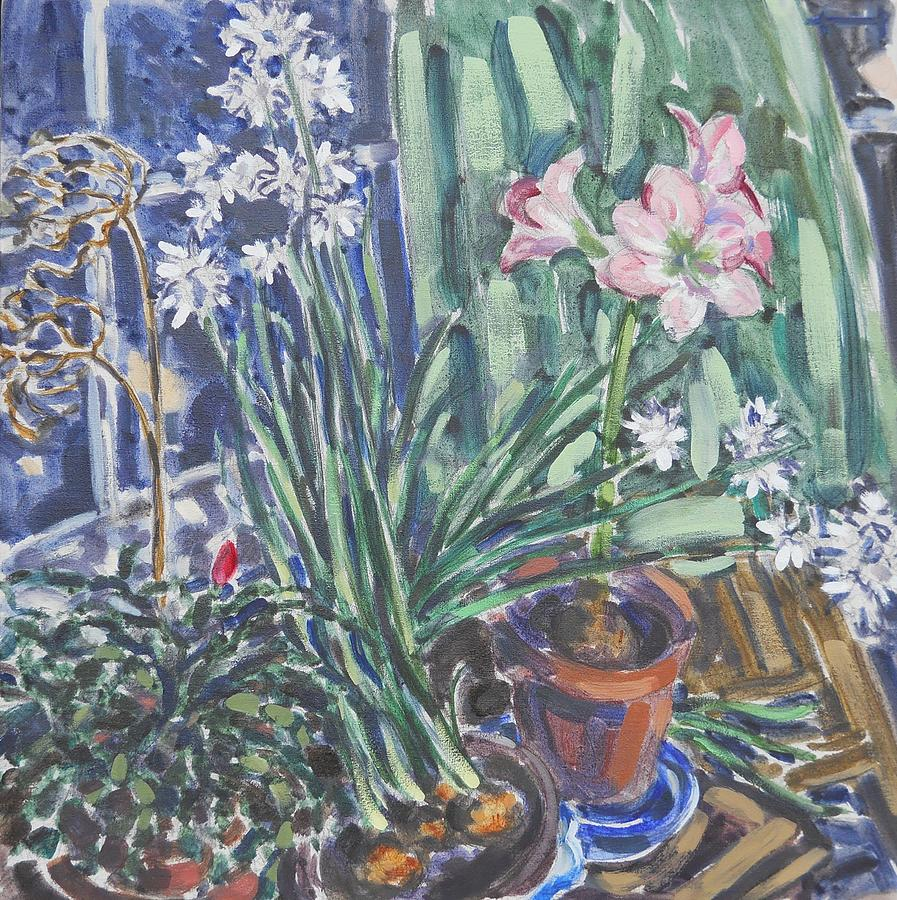 Narcissus Painting - Narcissus, Amaryllis by Thomas Dans