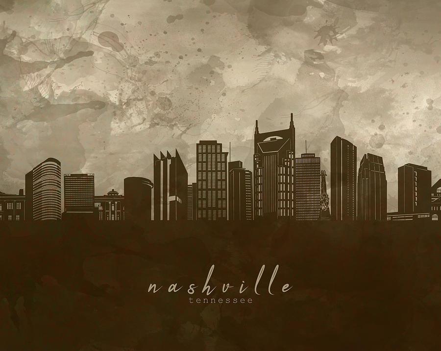 Nashville Skyline Panorama 4 Digital Art