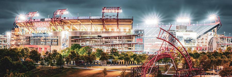 Nashville Stadium Lights - Tennessee Panorama Photograph