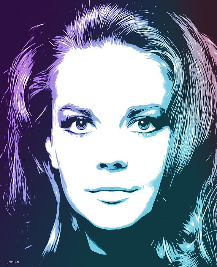 Natalie Wood Drawing - Natalie by Greg Joens