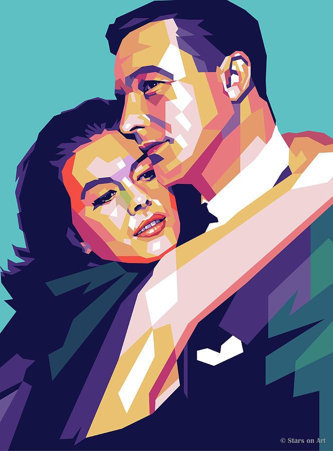 Natalie Digital Art - Natalie Wood And Gene Kelly by Stars on Art