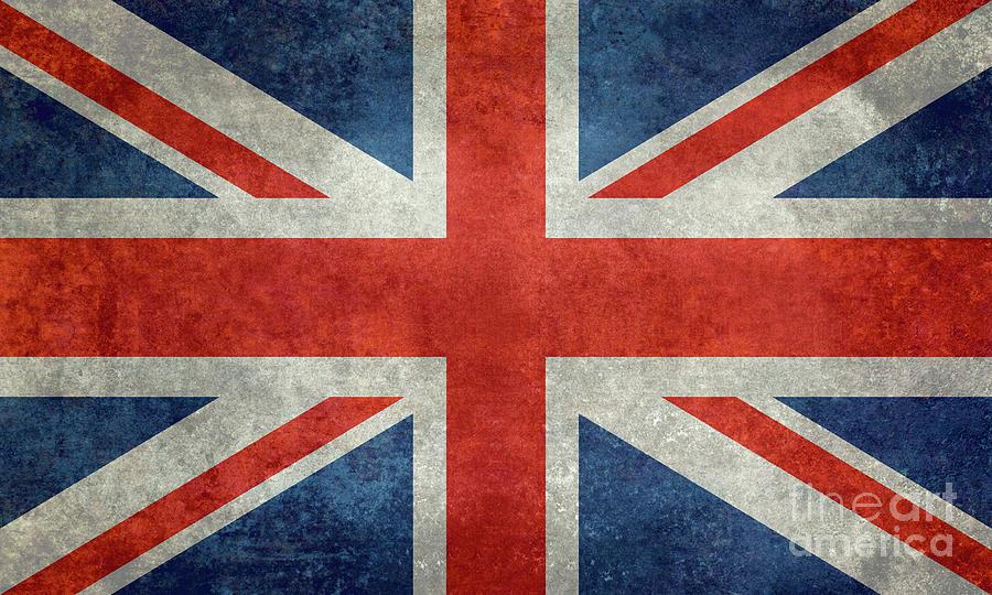 National Flag Of The United Kingdom, The Union Jack Ensign Retro Digital Art