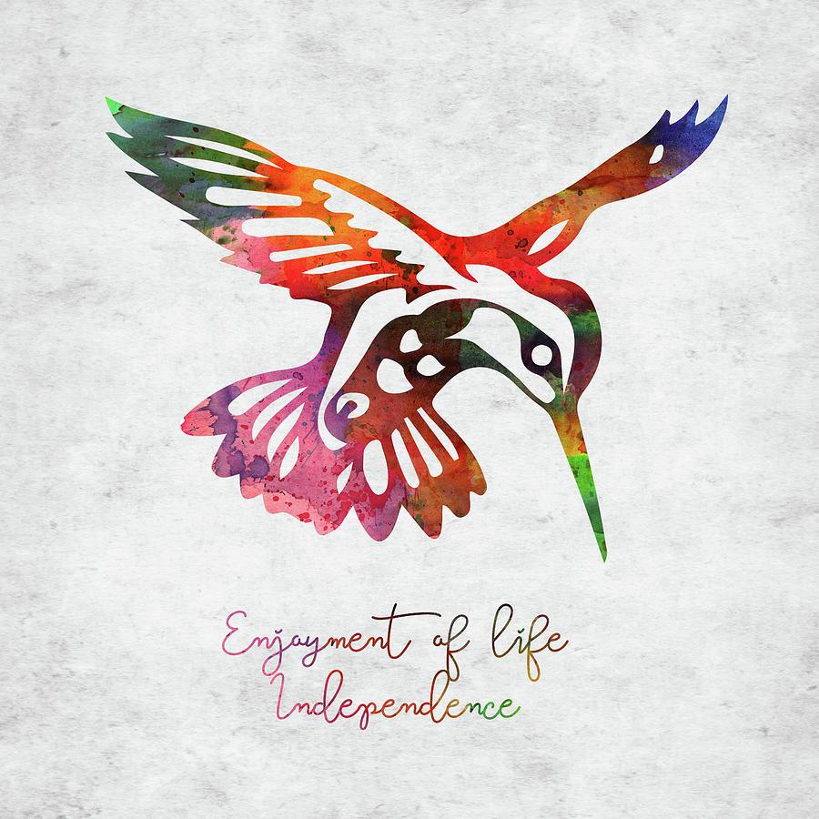 Native American Symbol - Hummingbird Digital Art
