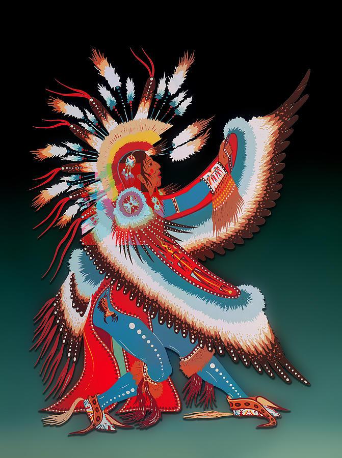 Native Eagle Dancer by Carlos Diaz