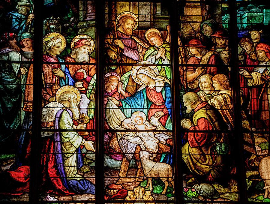 Nativity Stained Glass Photograph