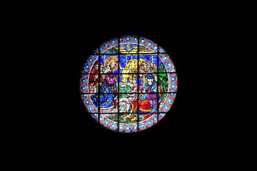 Nativity Stained Glass Window Duomo Florence Photograph