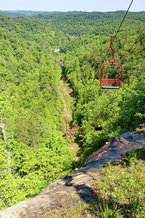 Overview Photograph - Natural Bridge Chairlift by Sally Weigand