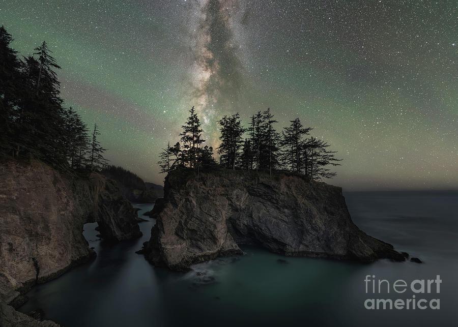 Natural Bridges Milky Way  by Michael Ver Sprill