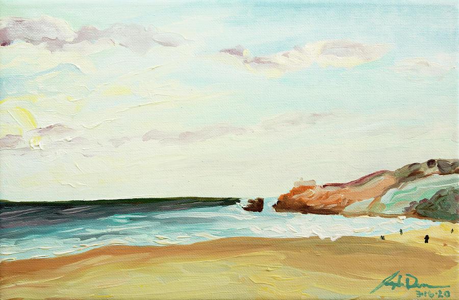 Nazare Painting - Nazare Portugal by Joseph Demaree