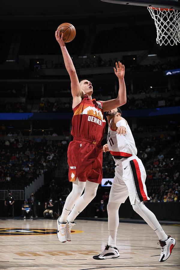 NBA 2021 Playoffs - Portland Trail Blazers v Denver Nuggets Photograph by Garrett Ellwood