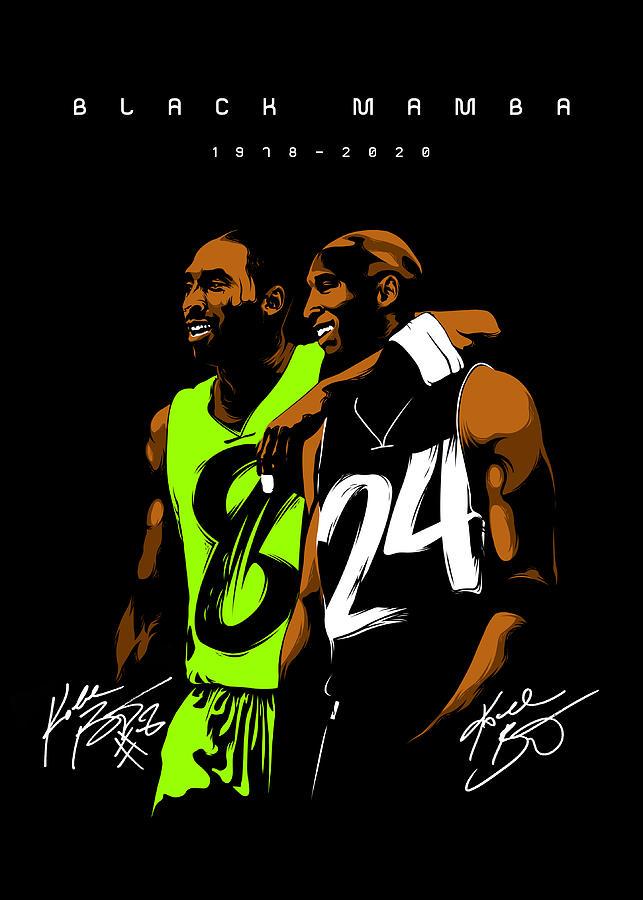 NBA Basketball Poster Kobe Bryant Black