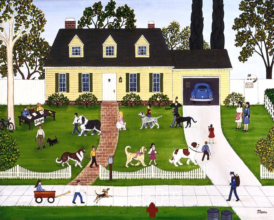 Neighborhood Dog Show Painting