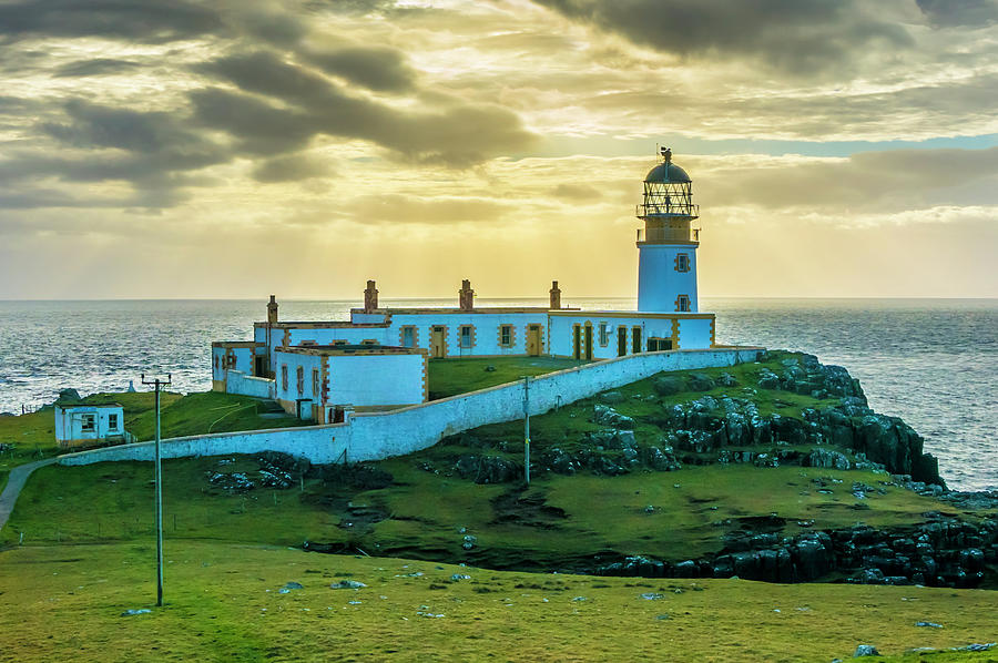 Highlands Photograph - Neist Point Lighthouse at Sunset by Paul Cullen