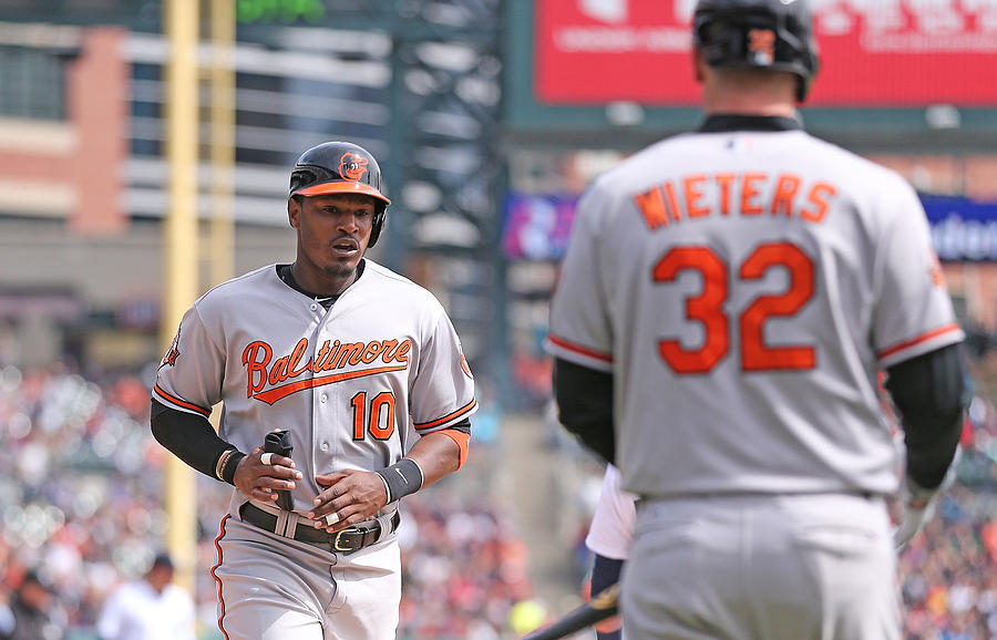 Nelson Cruz and Adam Jones Photograph by Leon Halip
