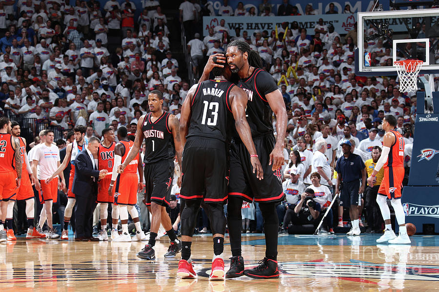 Nene Hilario and James Harden Photograph by Nathaniel S. Butler