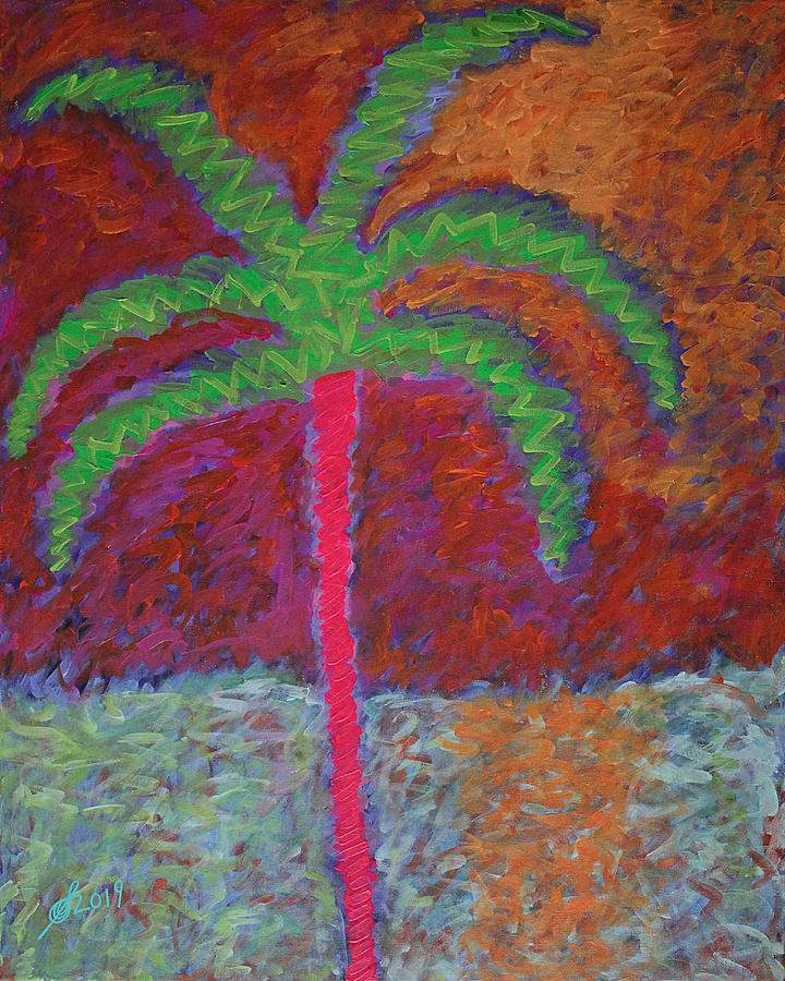 Neon Palm original painting by Sol Luckman