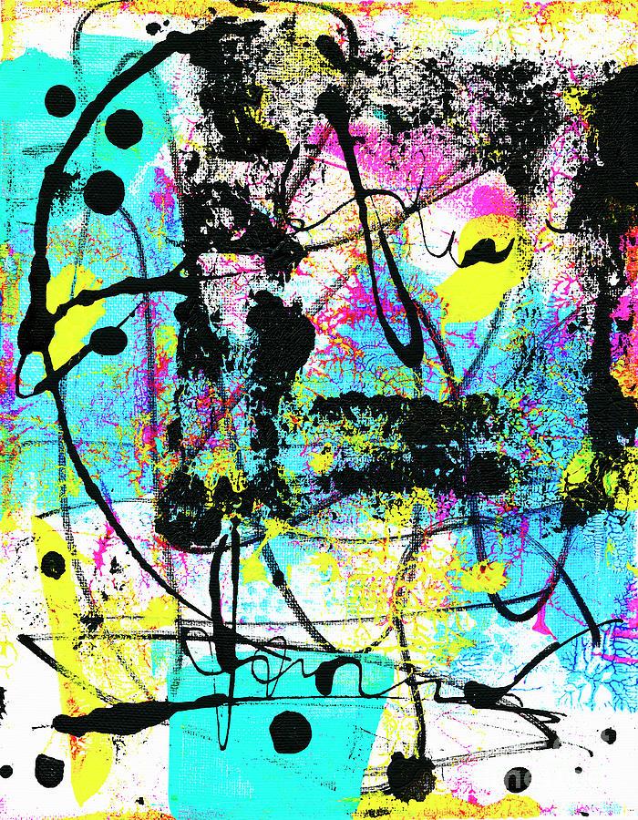 Colorful Abstract Painting - Neon by Zaira Dzhaubaeva
