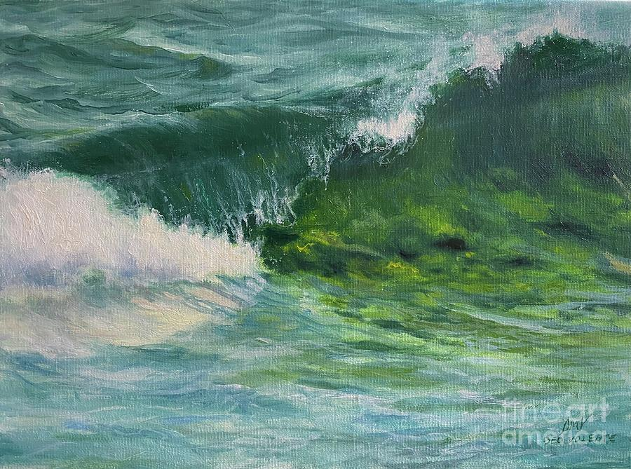 Wave Painting - Neptunes Song by Stella Violano