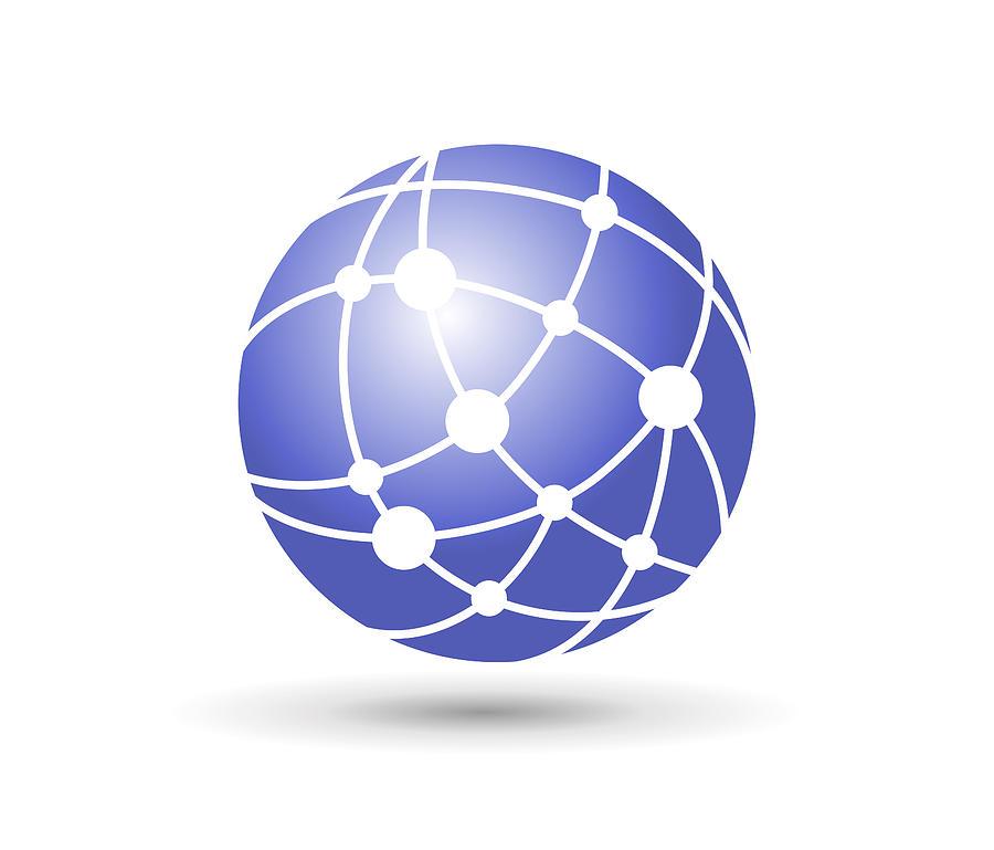 Network Globe Drawing by Amtitus