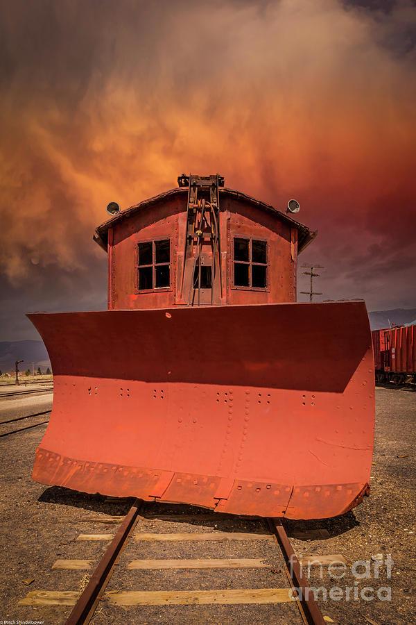 Nevada Northern Railroad Snowplow Photograph