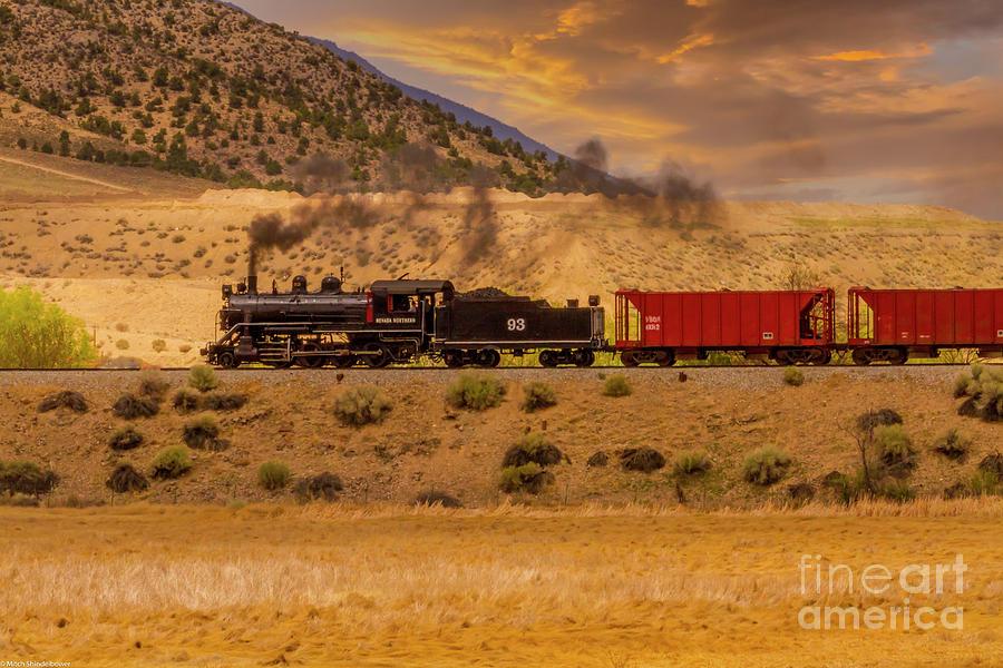 Nevada Northern Vintage Railroad Photograph