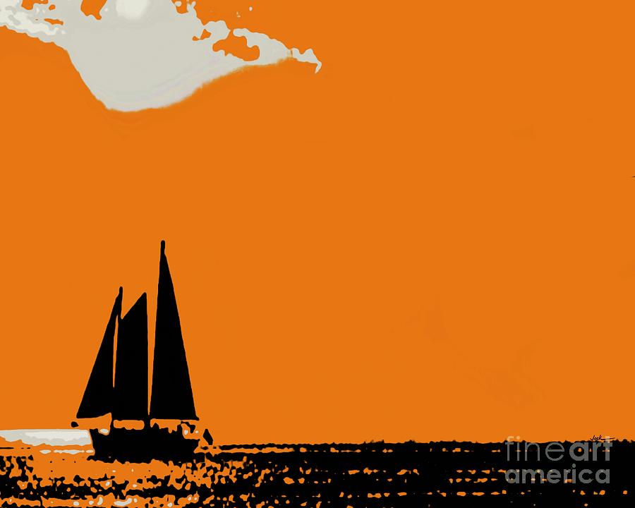 Sailing Painting - Nevermind The Clouds by Jack Bunds
