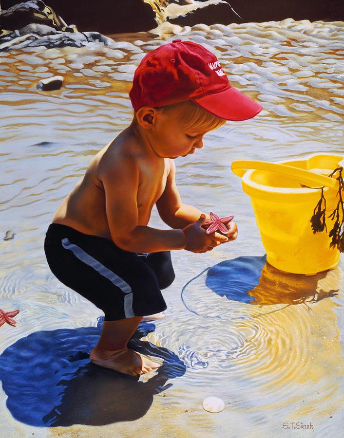 Seashore Painting - New Discoveries by Tom Sierak