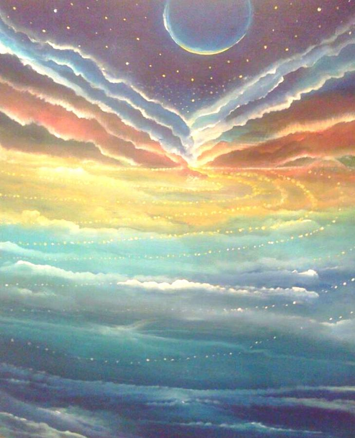 New Earth Painting by Lily Nava-Nicholson