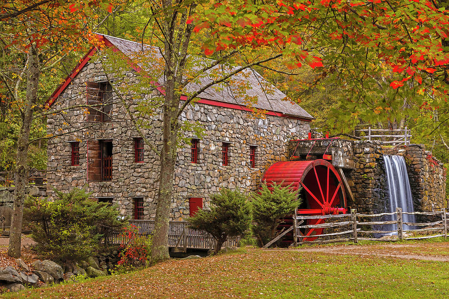 New England Fall Foliage at the Sudbury Grist Mill by Juergen Roth