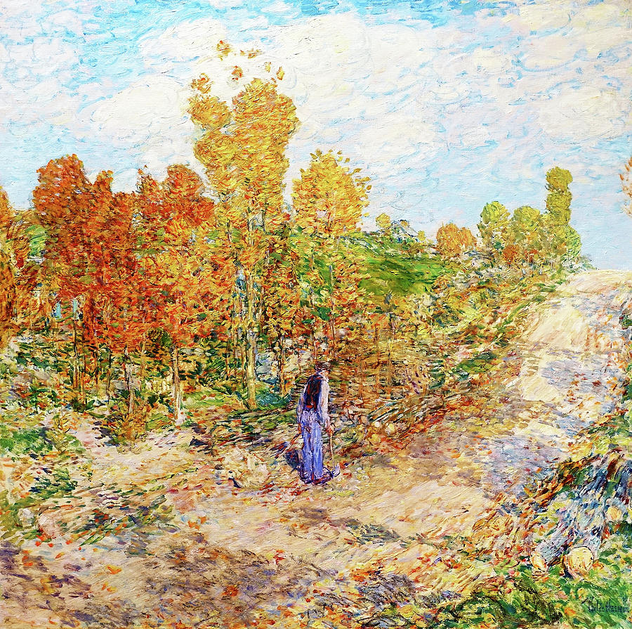 Frederick Childe Hassam Painting - New England Road - Digital Remastered Edition by Frederick Childe Hassam