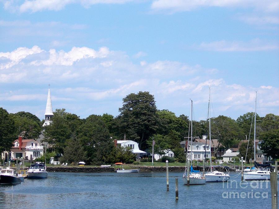 New England Summer Harbor Photograph