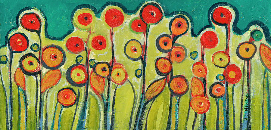 New Growth In Bloom Painting