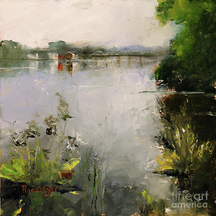 New Hope Painting - New Hope-Lambertville Bridge by Paint Box Studio