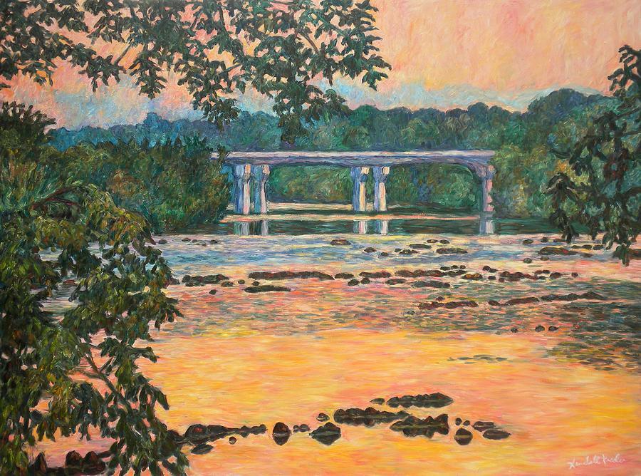 Landscape Painting - New Memorial Bridge at Dusk by Kendall Kessler
