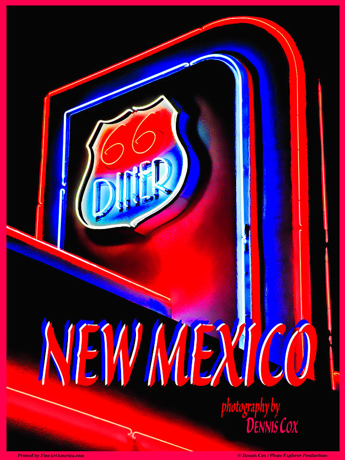 New Mexico Travel Poster Photograph
